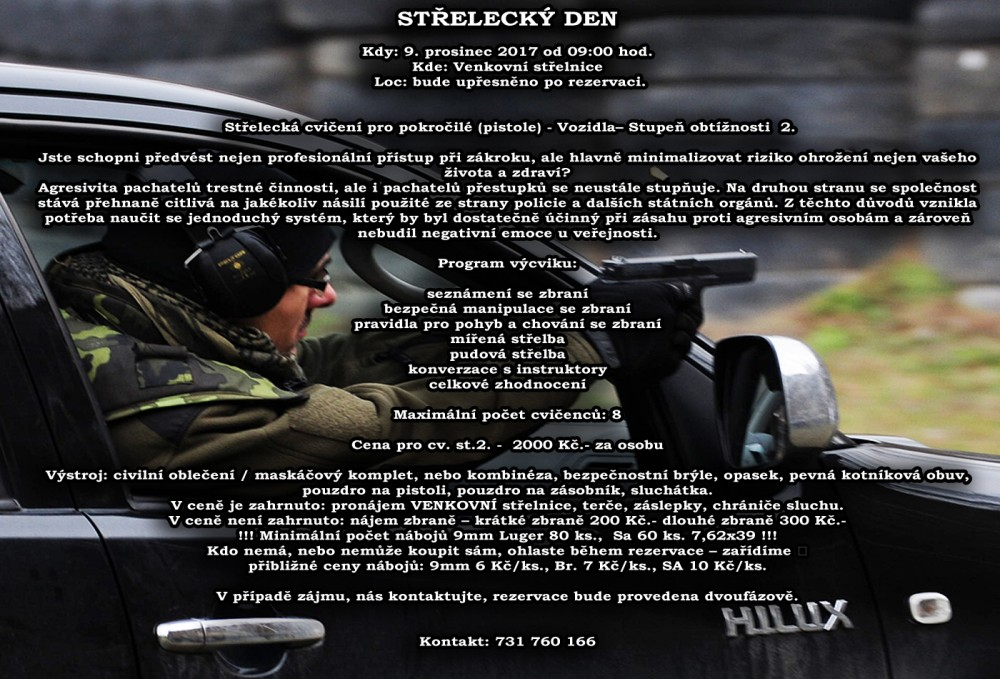 Střelecký výcvik - vozidla